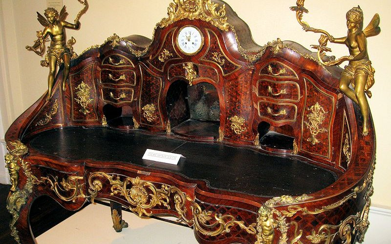 ornate antique desk