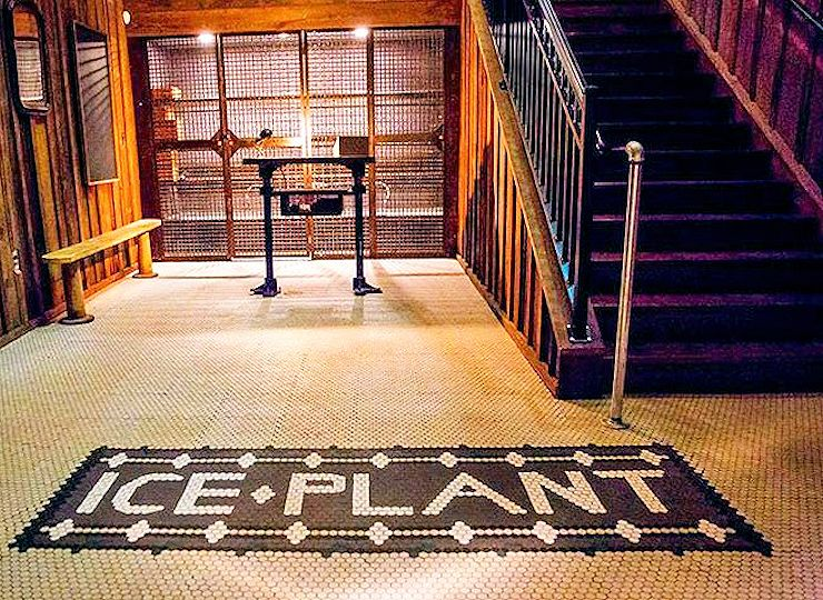 ice plant bar entrance view