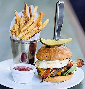 ice plant burger and fries