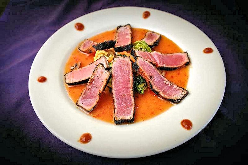 purple olive blackened ahi tuna