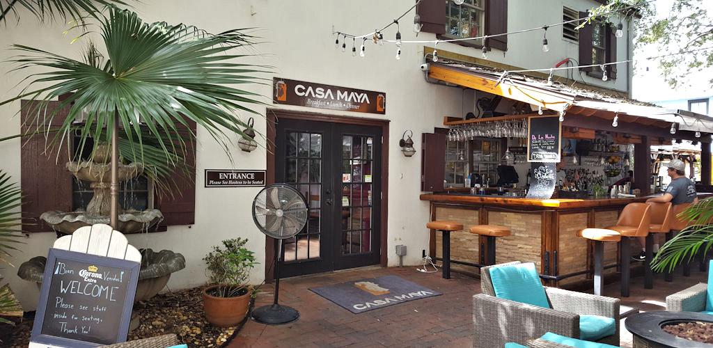 casa maya patio view