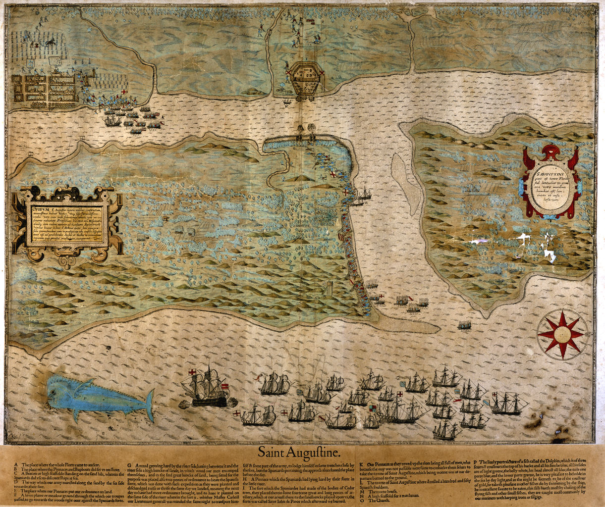 st augustine historical map 1589