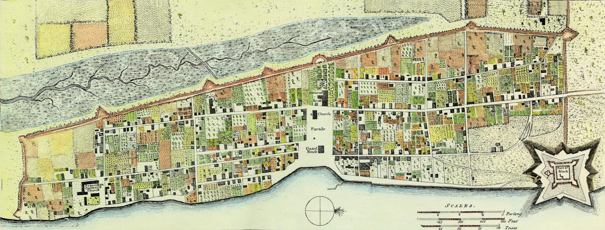 st augustine historical map 1764