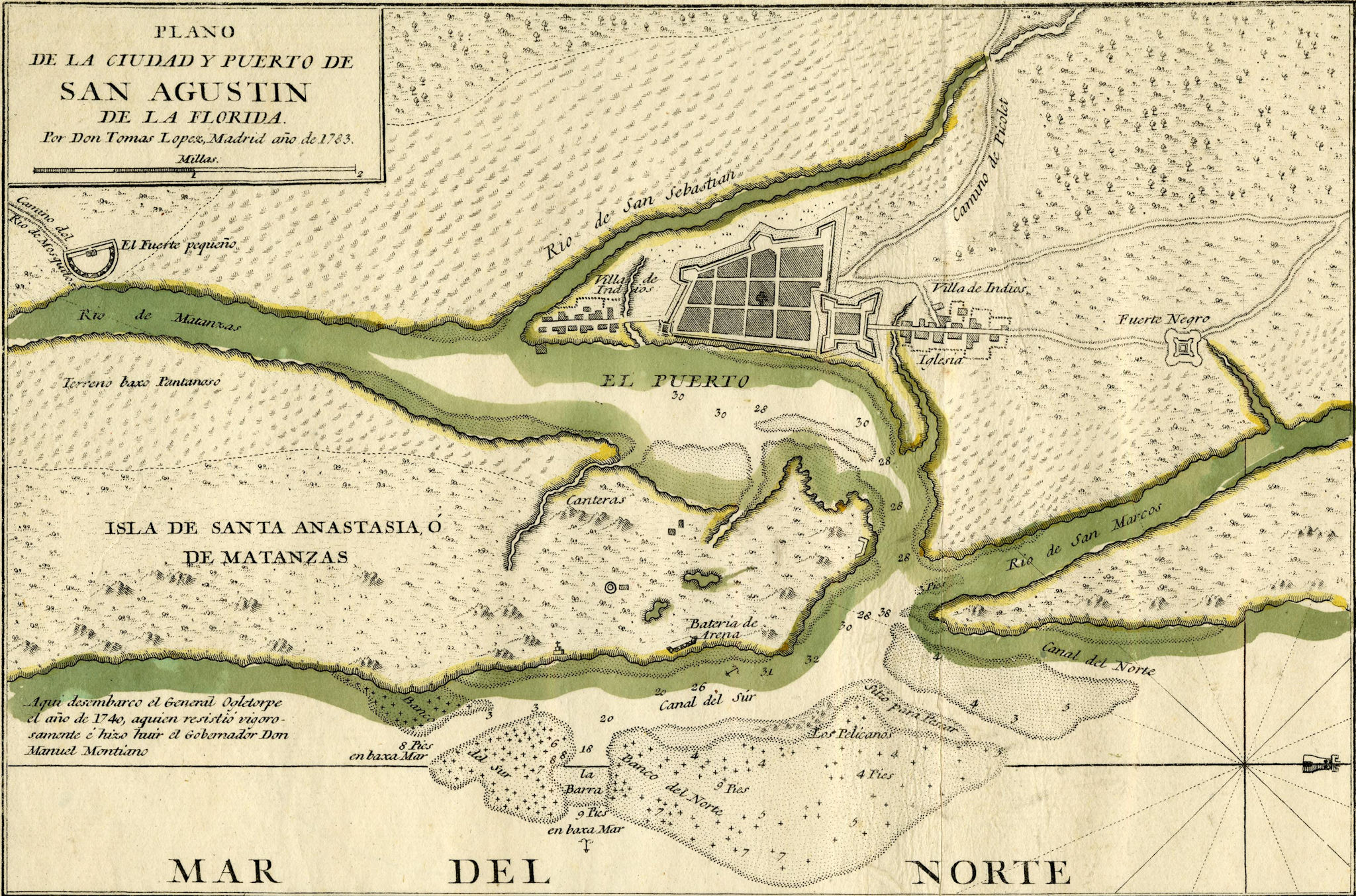 st augustine historical map 1782