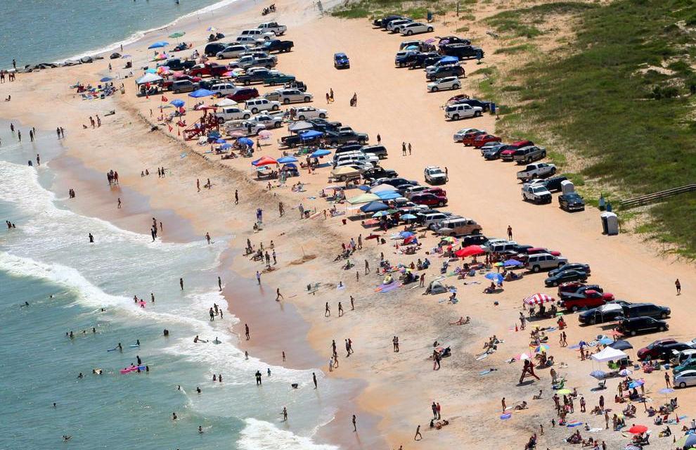 vilano beach aerial view