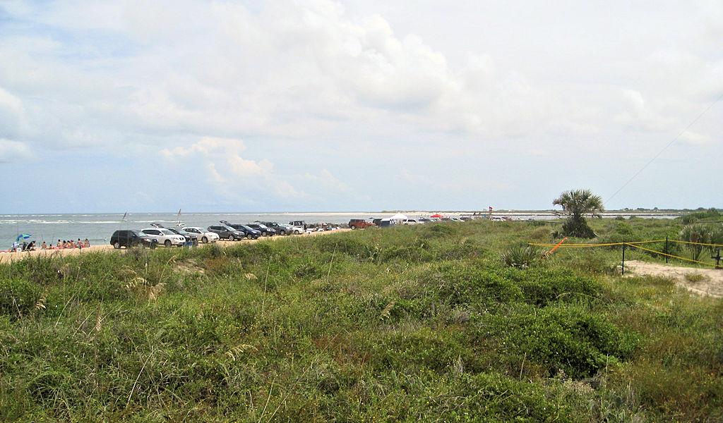 vilano beach dunes view