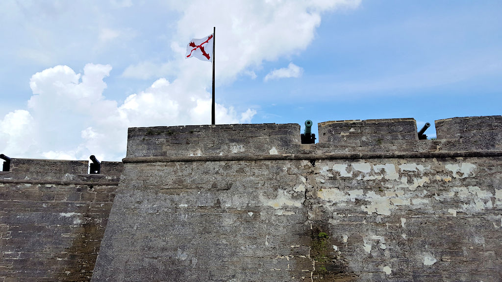 castillo de san marcos cannons at the entrance