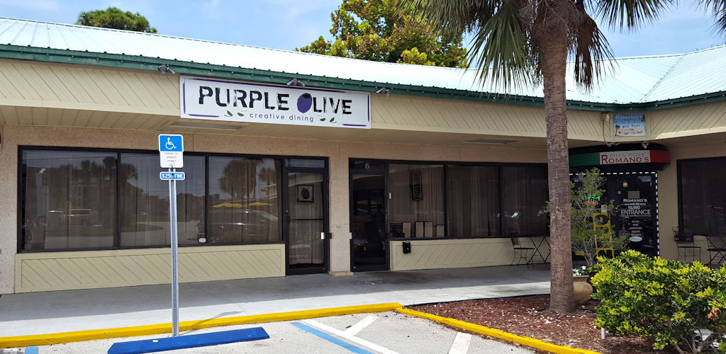 purple olive outside view