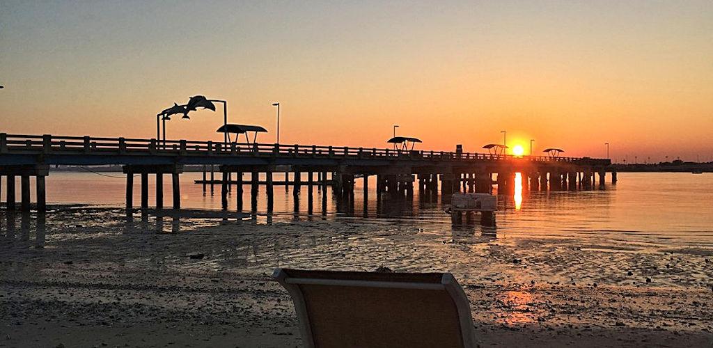 beaches at vilano sunset view