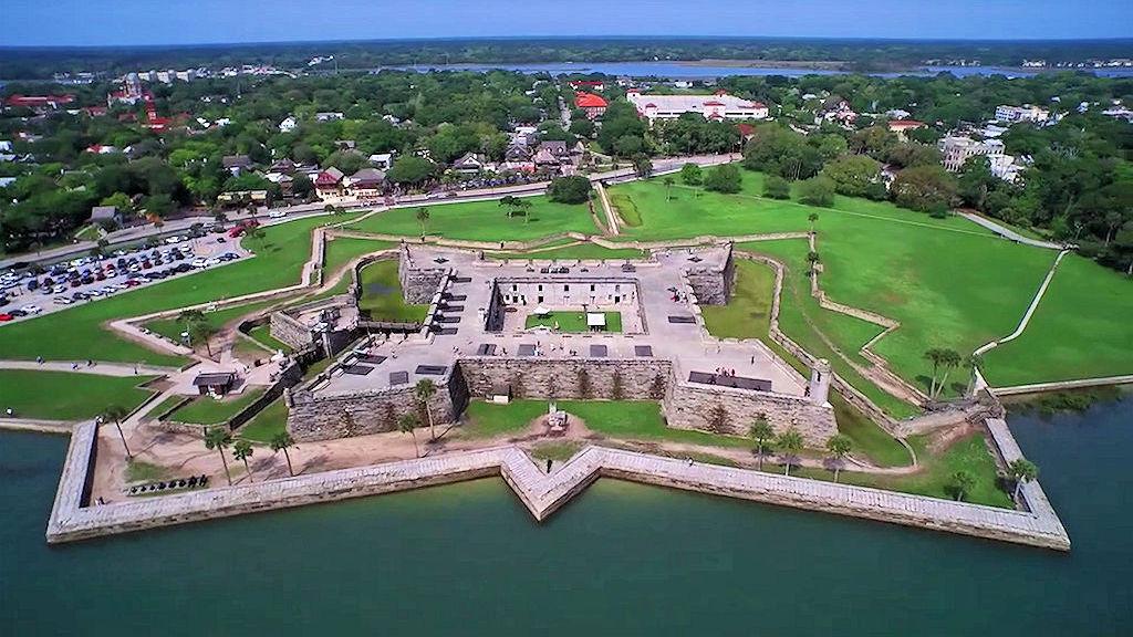 castillo de san marcos aerial view